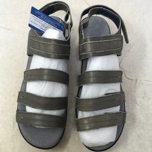 Propet Women's Aurora Wedge Sandal, Grey, 9 4E US
